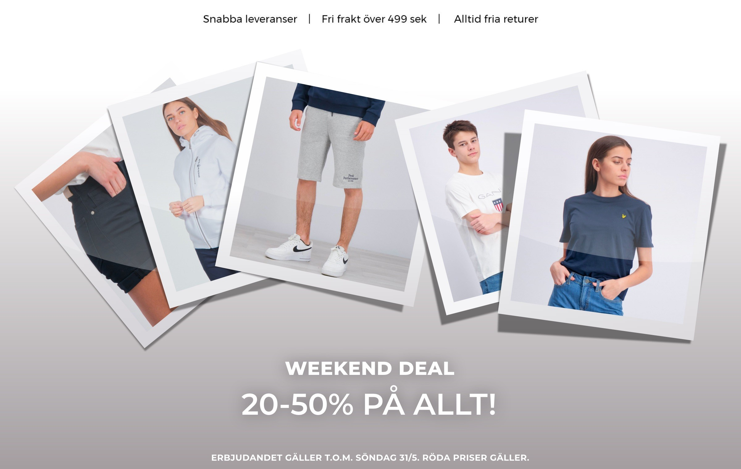 TOPP WEEKEND 20-50%