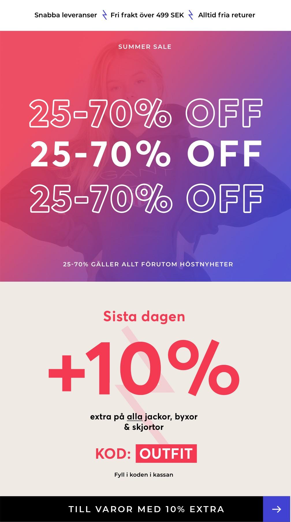 10% EXTRA 3 Sista dagen