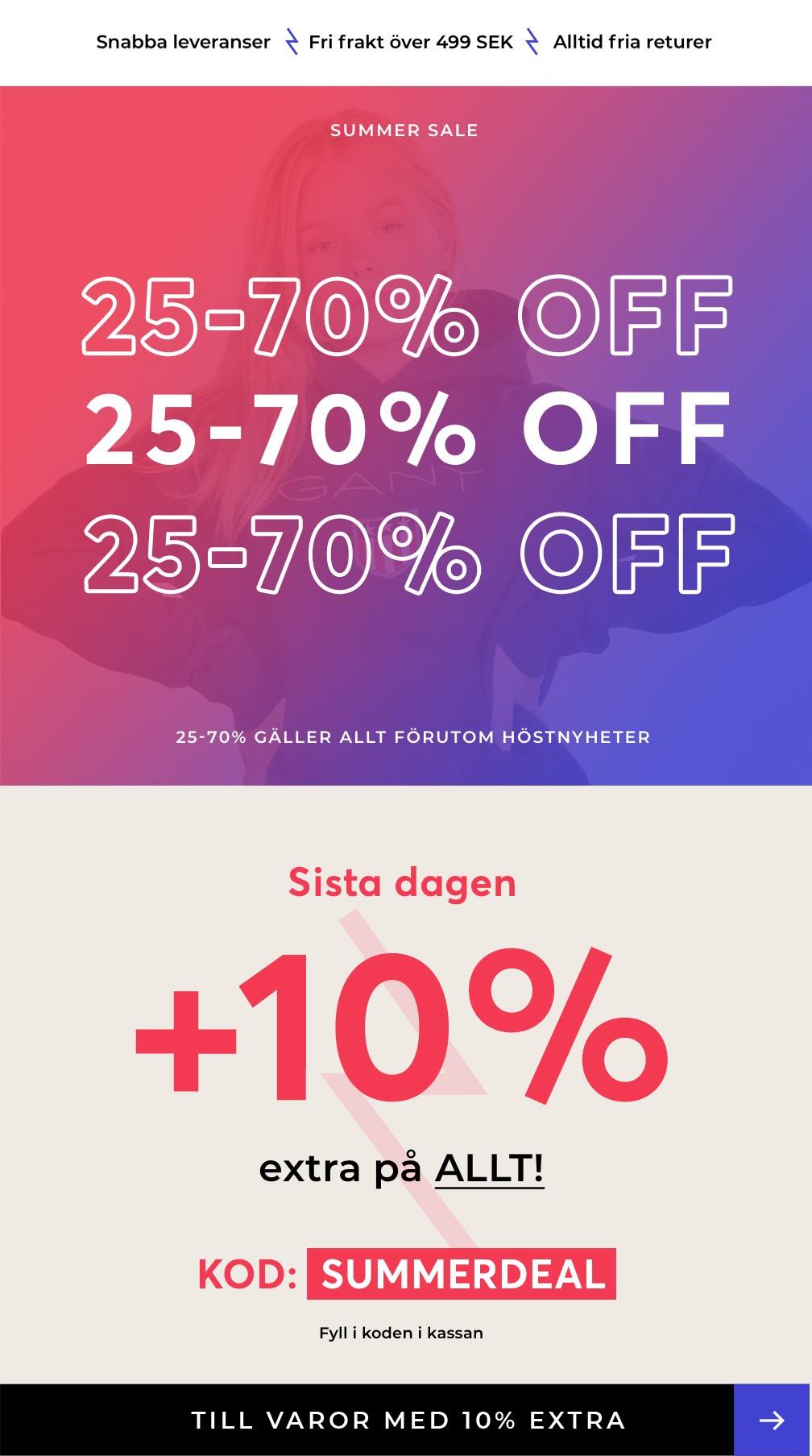 10% EXTRA 4 Sista dagen