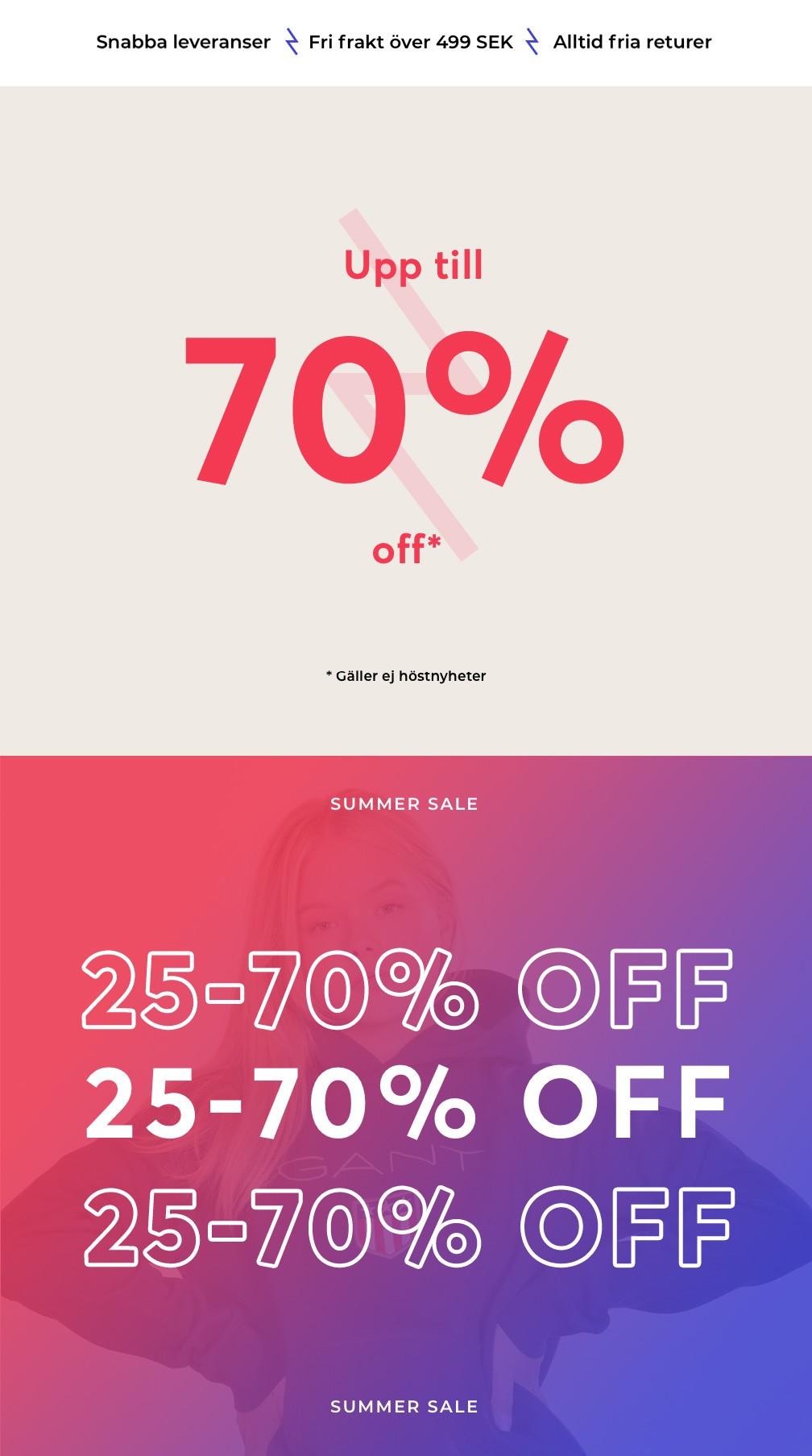 TOP Summer sale