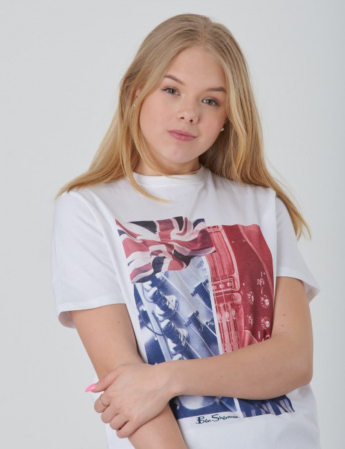 Ben Sherman - Guitar and Flag Tee