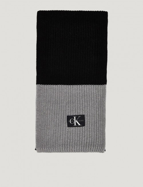 MONOGRAM KNITTED SCARF