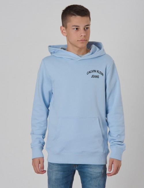 Calvin Klein barnkläder - CHEST LOGO TERRY HOODIE