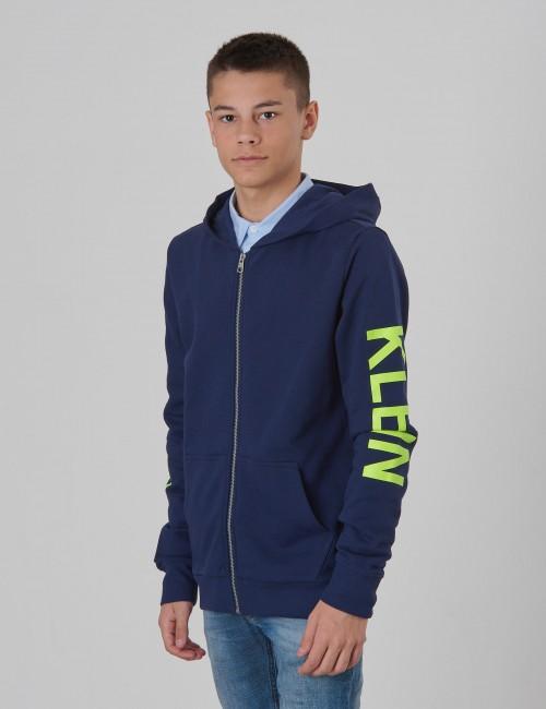 Calvin Klein barnkläder - NEON LOGO ZIP HOODIE