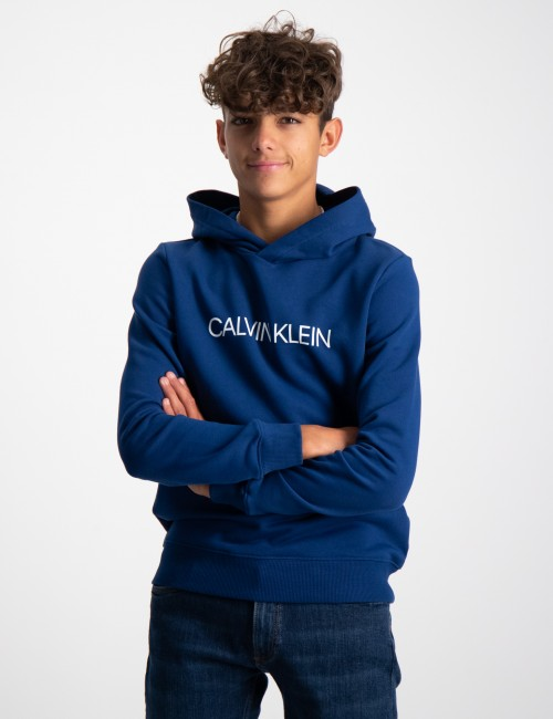 Calvin Klein barnkläder - INSTITUTIONAL LOGO HOODIE