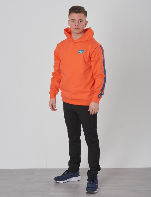Calvin Klein barnkläder - MONOGRAM TAPE LIGHT TERRY HOODIE