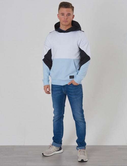 Calvin Klein barnkläder - COLORBLOCK TERRY HOODIE