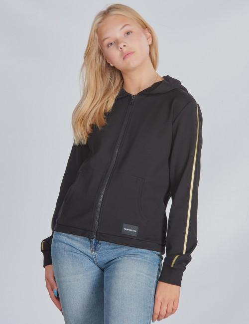 Calvin Klein barnkläder - GOLD TAPE ZIP HOODIE