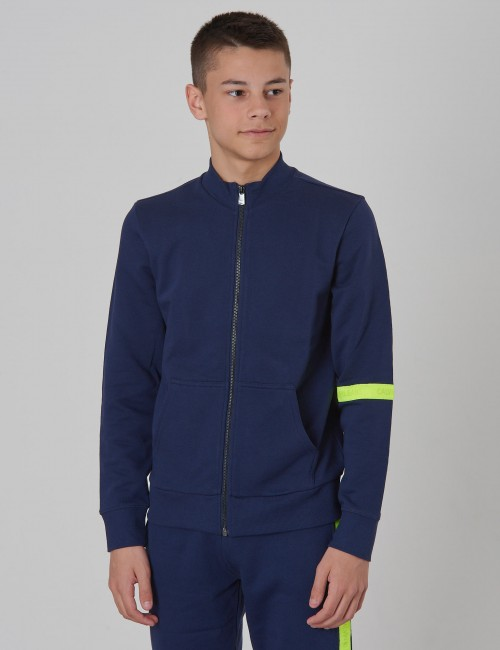 NEON TAPE ZIP TERRY JACKET