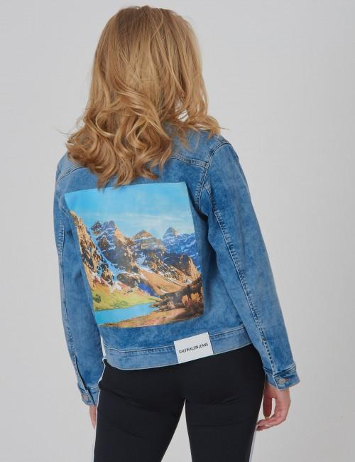 Calvin Klein barnkläder - TRUCKER JKT PAGEVIEW BLUE COM
