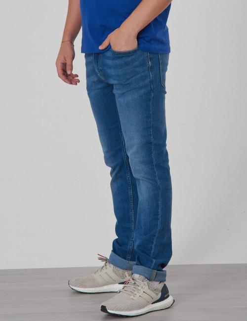 Calvin Klein barnkläder - SLIM VALE MID BLUE STRETCH