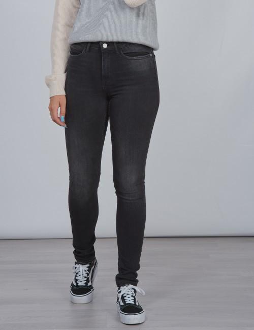 Calvin Klein barnkläder - SKINNY HR WORN BLACK STR