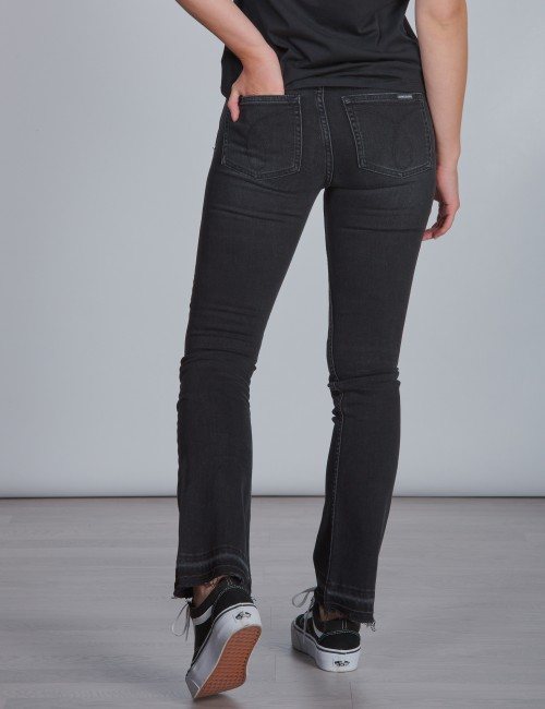 Calvin Klein - FLARE MR WORN BLACK D STR