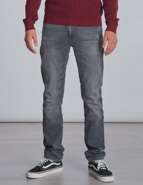 Calvin Klein barnkläder - SLIM SMOKEY GREY DESTRUCTED