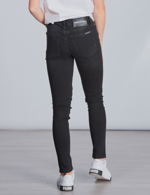 Calvin Klein barnkläder - SKINNY MR CITY BLACK STR