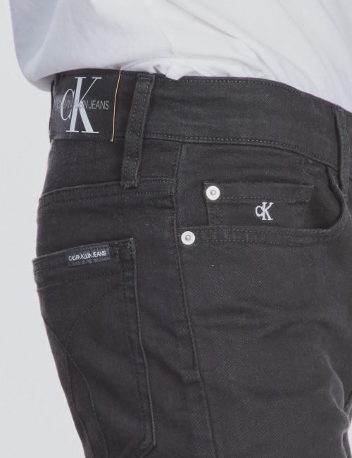 Calvin Klein barnkläder - SKINNY SUST BLACK STRETCH