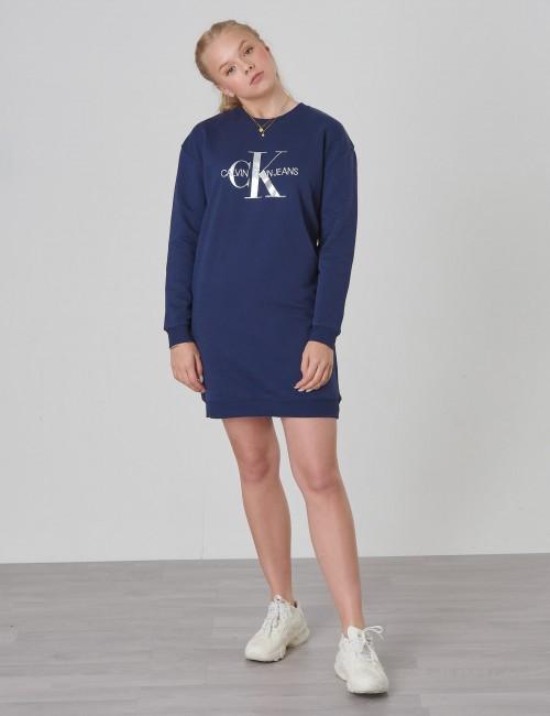 Calvin Klein barnkläder - MONOGRAM SWEATSHIRT DRESS
