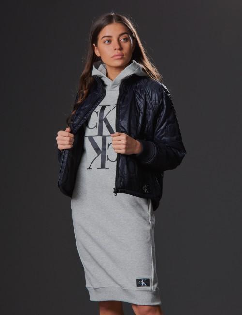 Calvin Klein barnkläder - MIDI MONOGRAM HOODIE DRESS