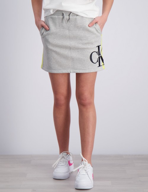 MONOGRAM STRIPE KNIT SKIRT