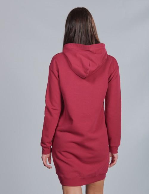 Calvin Klein barnkläder - HOODED MONOGRAM SWEATSHIRT DRESS