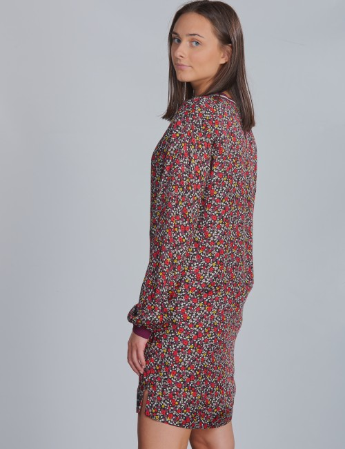 Calvin Klein - VARSITY FLOWER LS DRESS