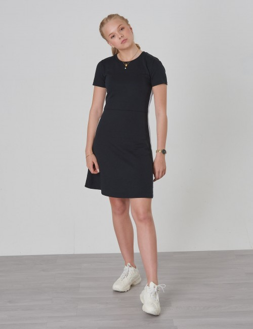 Calvin Klein barnkläder - SIDE STRIPE PUNTO SKATER DRESS