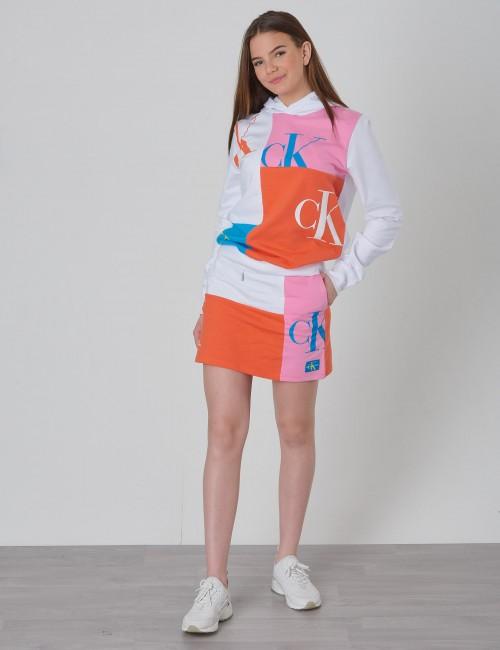Calvin Klein barnkläder - MONOGRAM PATHCHWORK LIGHT SKIRT