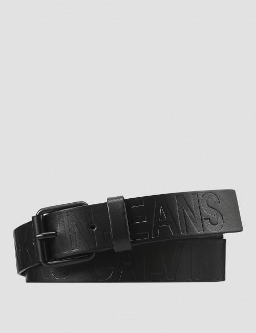 Calvin Klein barnkläder - LOGO EMBOSSED LEATHER BELT