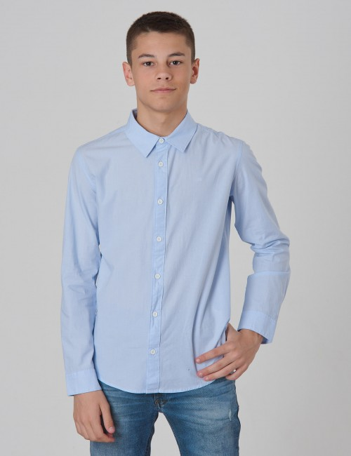 Calvin Klein barnkläder - CHAMBRAY REGULAR SHIRT