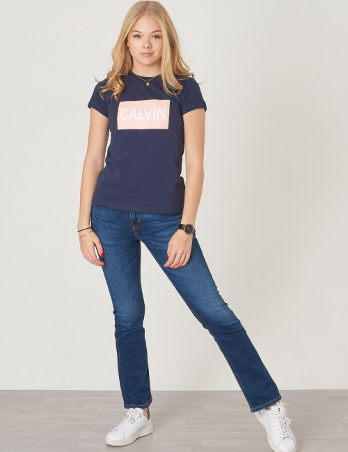 Calvin Klein barnkläder - BOX LOGO SLIM TEE