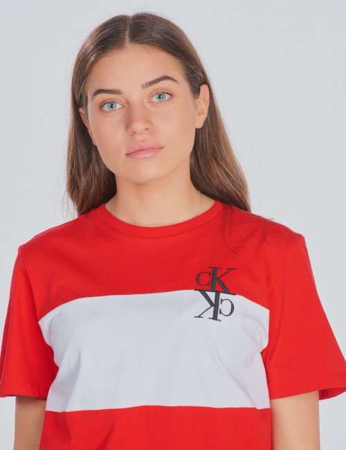 Calvin Klein barnkläder - COLOUR BLOCK MONOGRAM T-SHIRT