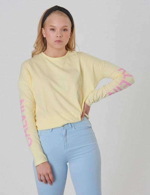 Calvin Klein - LONG SLEEVE LOGO Girl TEE