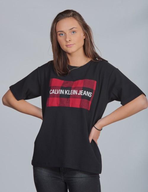 Calvin Klein barnkläder - BUFFALO CHECK BOX SS T-SHIRT