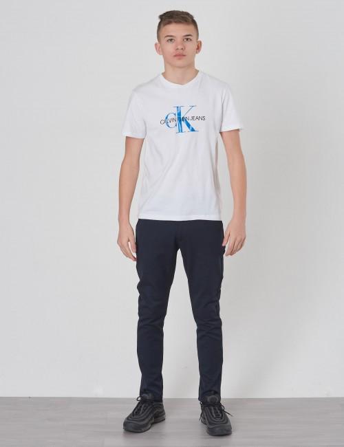 Calvin Klein barnkläder - MONOGRAM LOGO REGULAR FIT TEE