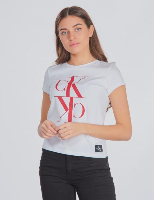 Calvin Klein barnkläder - MONOGRAM CROPPED T-SHIRT
