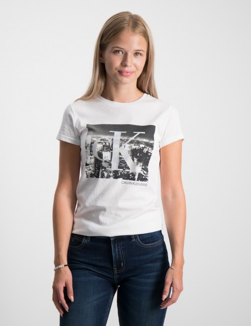 CK PHOTO PRINT SLIM SS T-SHIRT