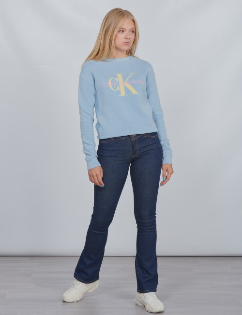 Calvin Klein barnkläder - MONOGRAM ORGANIC COTTON SWEATER