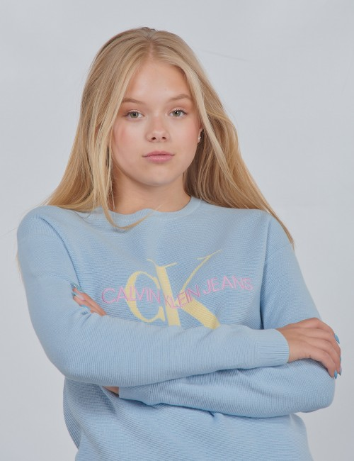 Calvin Klein - MONOGRAM ORGANIC COTTON SWEATER