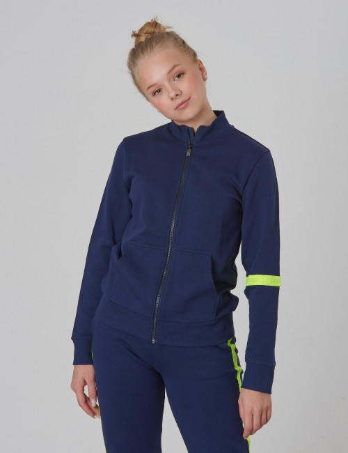 Calvin Klein - NEON TAPE ZIP TERRY JACKET