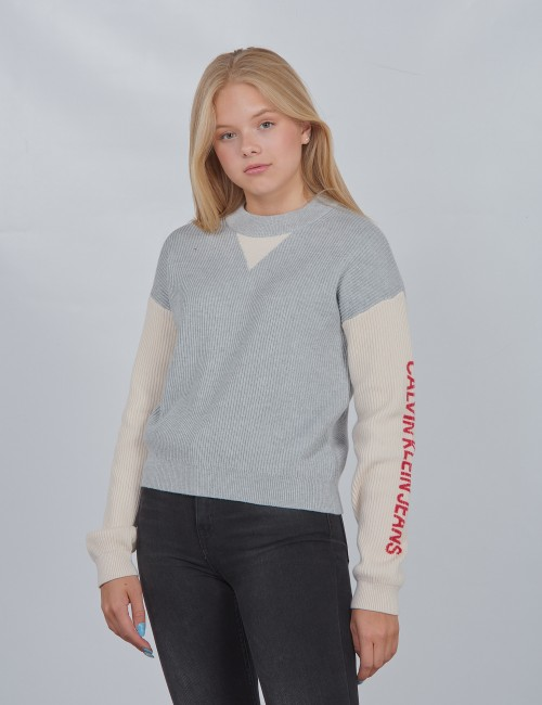 OCO COLOUR BLOCK LOGO SWEATER