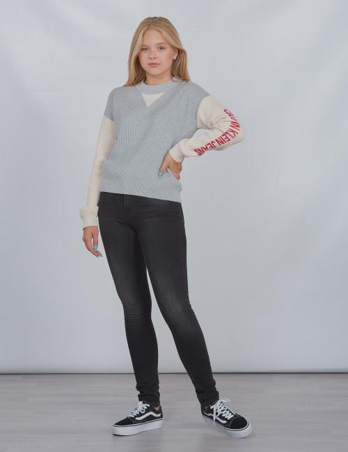 Calvin Klein barnkläder - OCO COLOUR BLOCK LOGO SWEATER