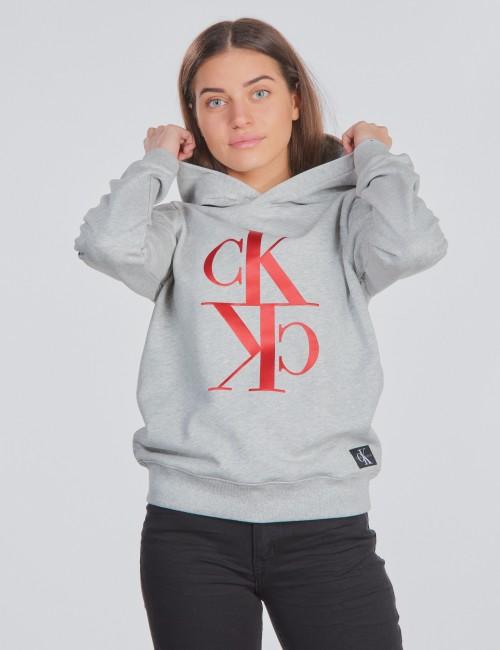 Calvin Klein barnkläder - MIRROR MONOGRAM HOODIE