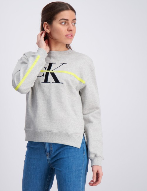 MONOGRAM STRIPE SWEATSHIRT