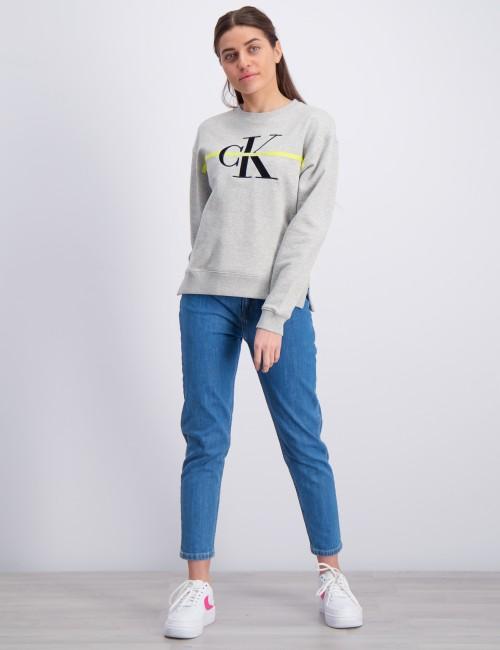 Calvin Klein barnkläder - MONOGRAM STRIPE SWEATSHIRT
