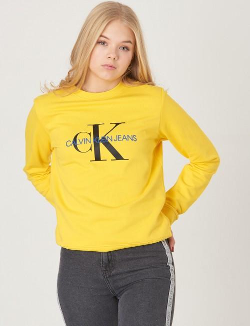 Calvin Klein barnkläder - MONOGRAM TERRY CREW