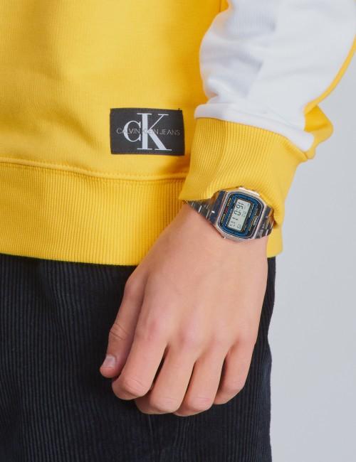 Calvin Klein barnkläder - COLOUR BLOCK MONOGRAM SWEATSHIRT