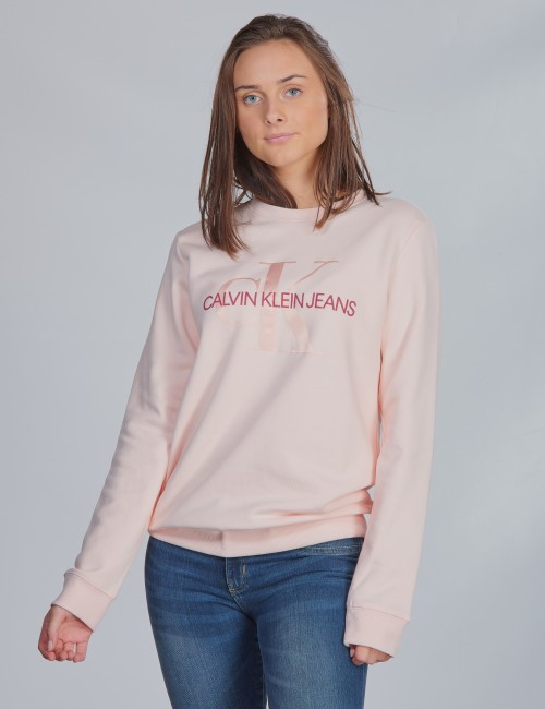 Calvin Klein barnkläder - MONOGRAM CREW SWEATSHIRT