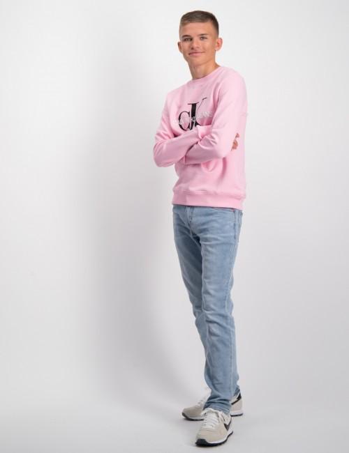 Calvin Klein barnkläder - MONOGRAM LOGO SWEATSHIRT