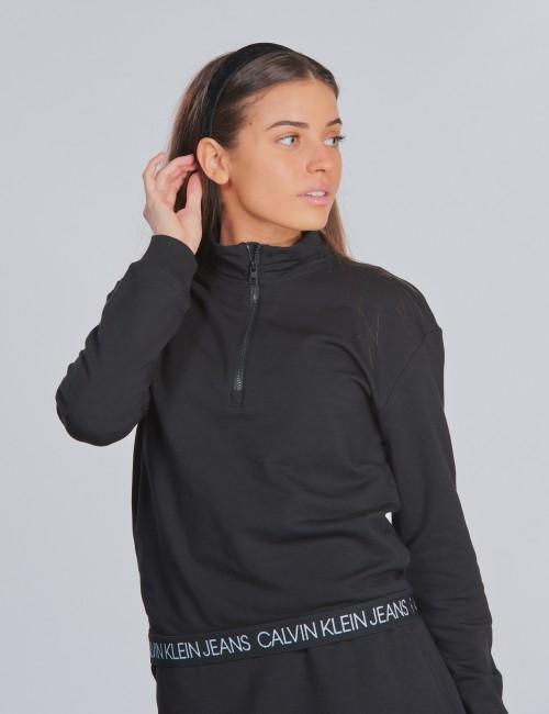 Calvin Klein barnkläder - LOGO WAISTBAND ZIP MOCK
