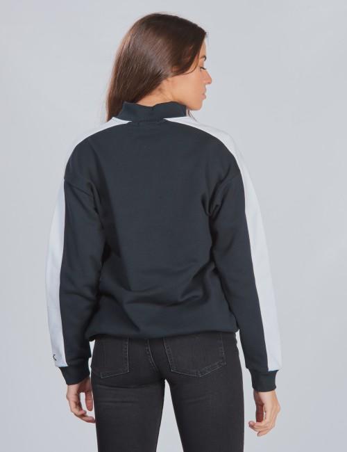 Calvin Klein barnkläder - SIDE BLOCK ZIP MOCK